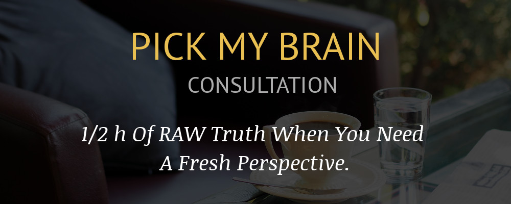 Pick my brain banner